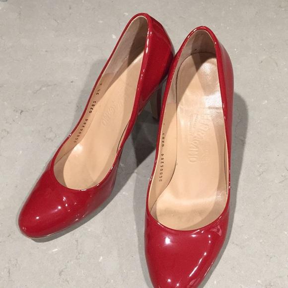 fc00e0b0ea Salvatore Ferragamo Shoes | Red Patent Leather Heels | Poshmark